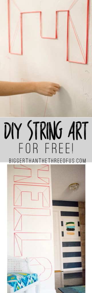 Hello DIY String Art for Free! Hop over to get the tutorial!