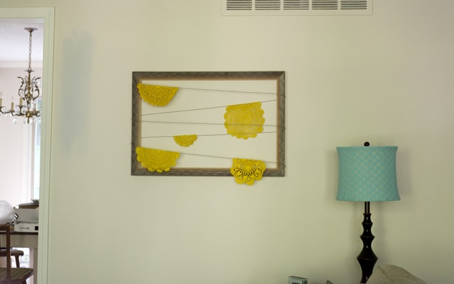 Doily frame completed