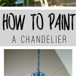 Ever wondered how to paint a chandelier? Use this tutorial to see how!