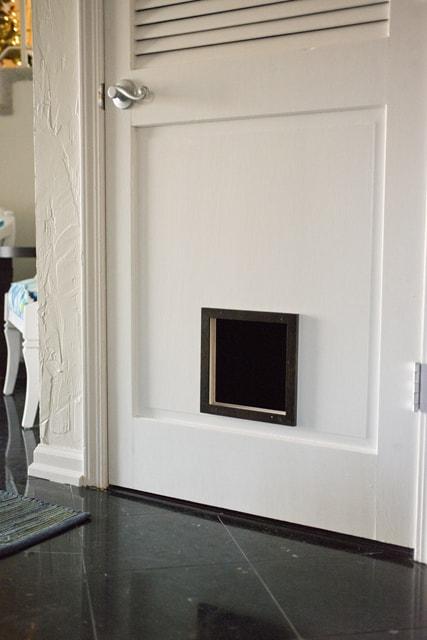 Cat door in entryway