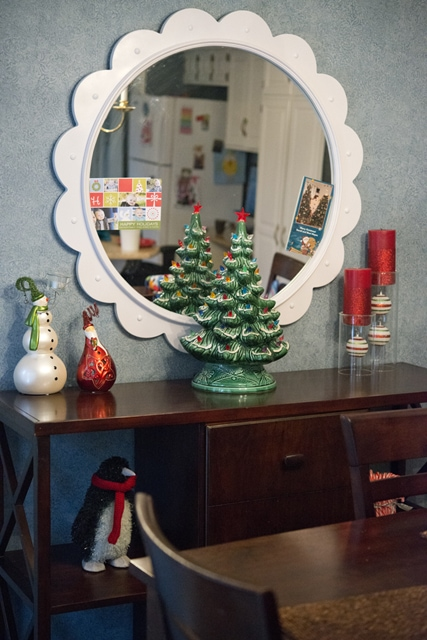 Christmas mantle with new  copy