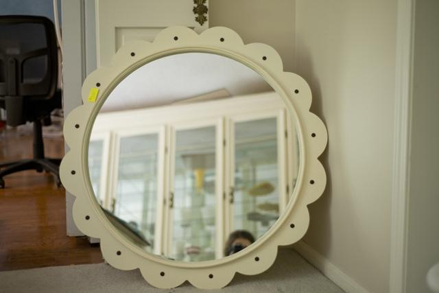 Garage sale mirror before