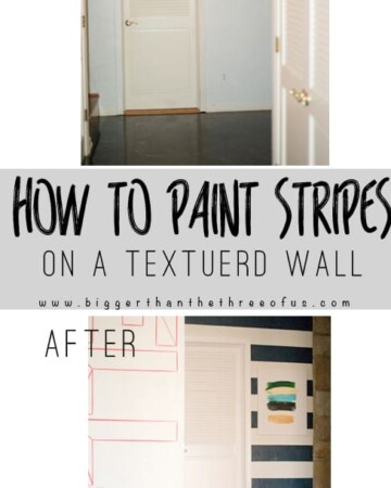Must Pin! How to paint Stripes On a Textured Wall! You can do it!
