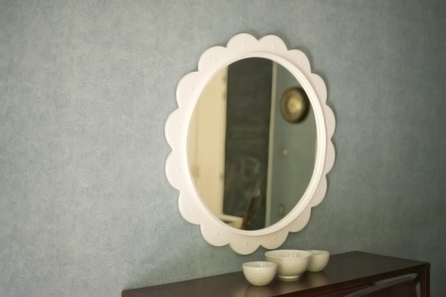 Mirror hung