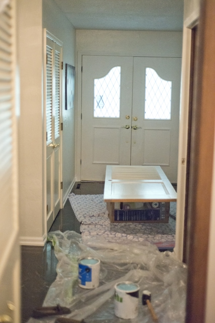 Painting entryway doors in copy