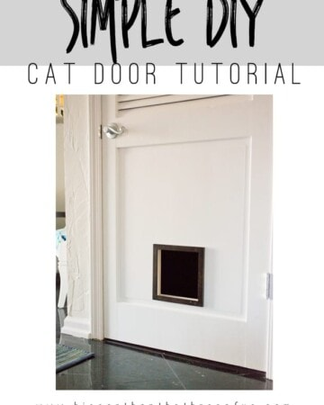 Hop over to learn how to make this Simple DIY Cat Door! Get the tutorial... it's so easy!