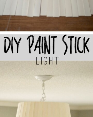 Make this Simple Paint Stick Light!