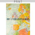 Free Travel Art Print to Download