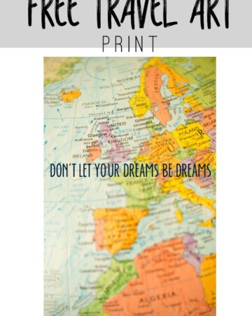 Free Travel Art Print to Download