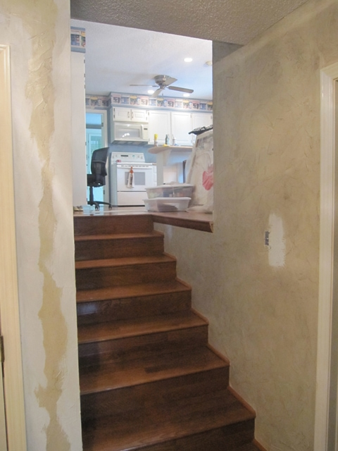 back stairwell before