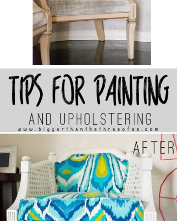 Updating old chairs can be easier than you think! Use these tips for painting and upholstering old chairs to get the look that you want!