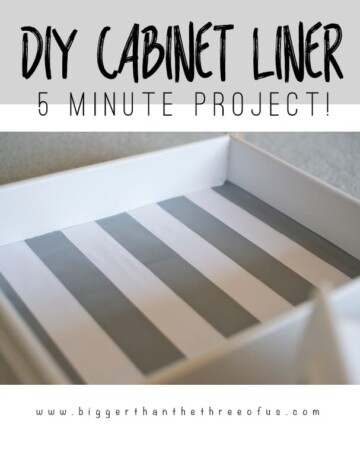 Line your cabinets yourself with this tutorial! DIY Cabinet Tutorial!