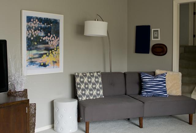 artwork and garden stool