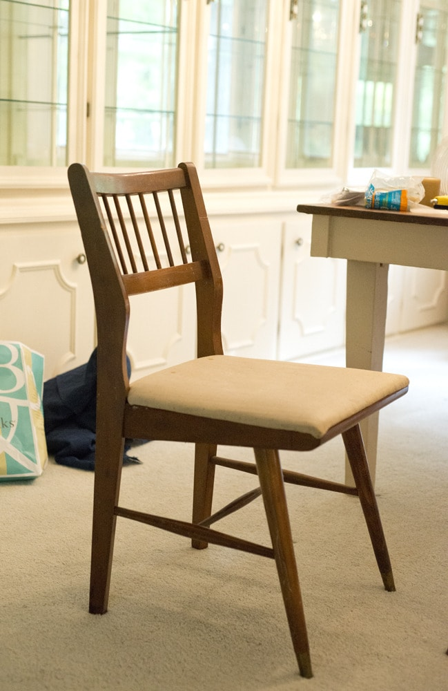 BEFORE // How To Update A Mid-Century Chair
