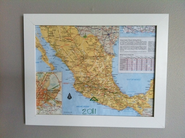 handstitched map art