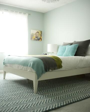 master bedroom with white duvet