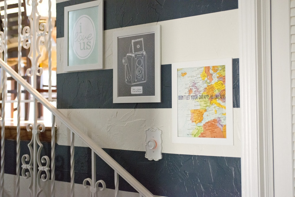 Printable_art_on_hallway_stairs