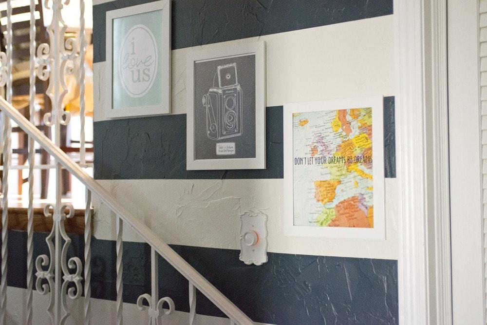 Printable_art_on_hallway_stairs