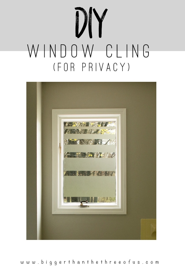 Add Privacy To Bathroom Windows With This DIY