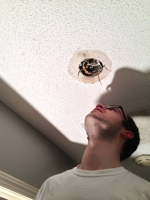 disgusting ceiling discoloration