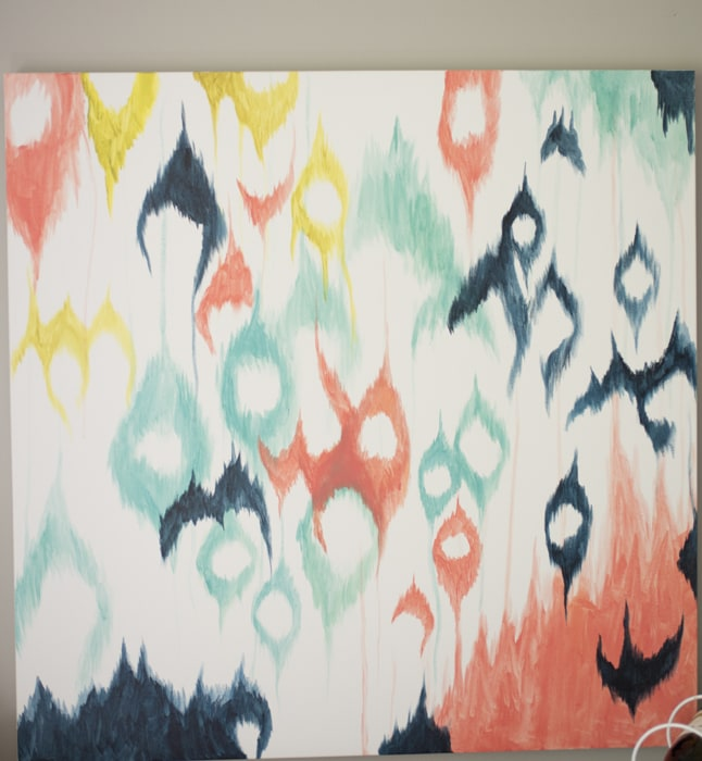 finished ikat painting
