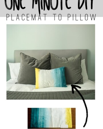 1 Minute Placemat to Pillow DIY...Seriously!!