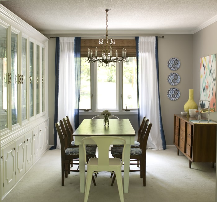 formal dining room reveal after