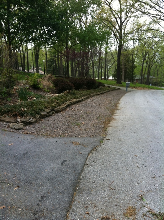 gravel after clean-up