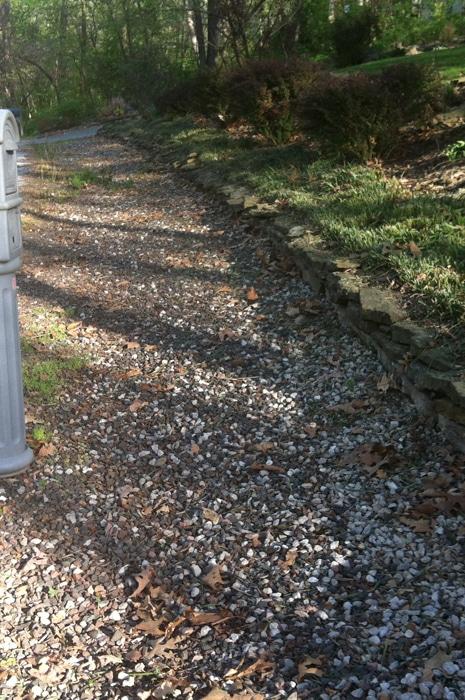 gravel before