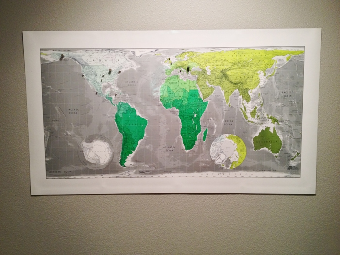magnetic wall map