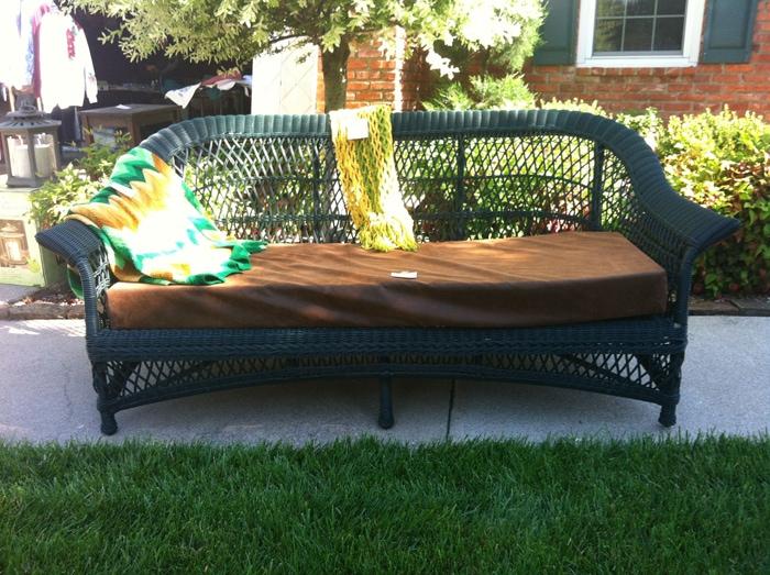 sofa outdoor find at garage sale