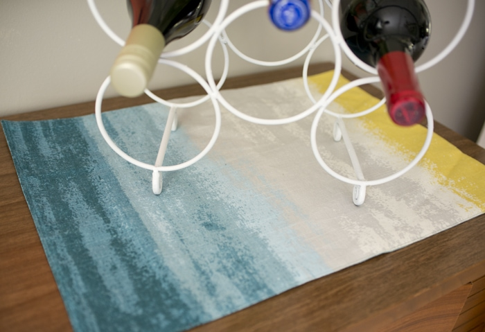 target threshold placemat on credenza