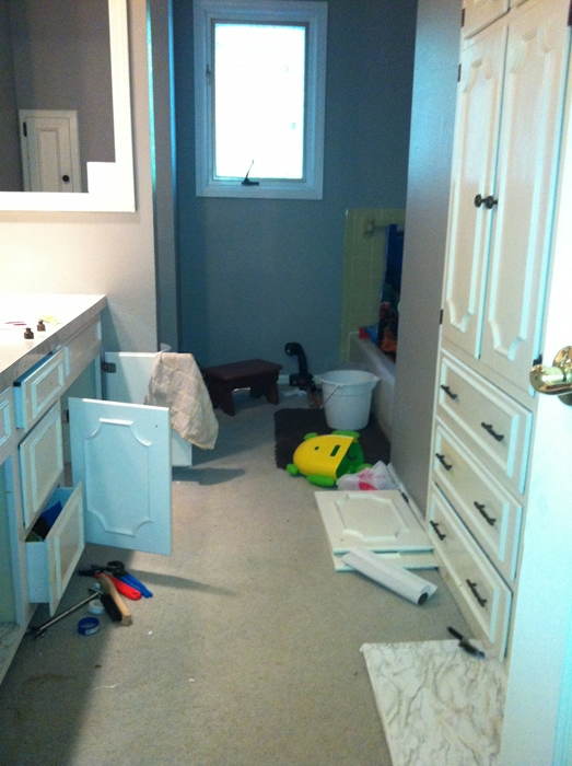 bathroom disarray