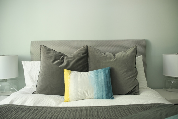 upholstered bed headboard with step-by-step tutorial