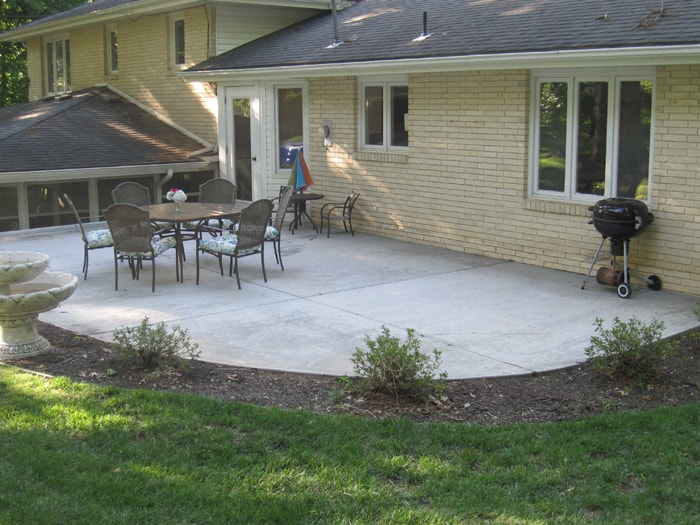 patio first summer after cleanup
