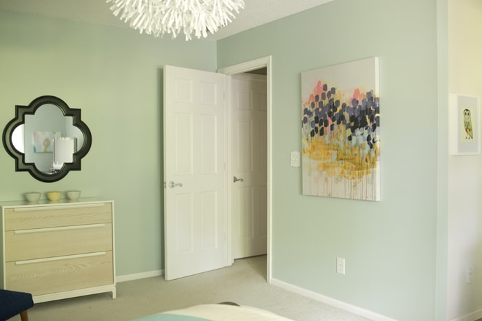 view of door from bedroom