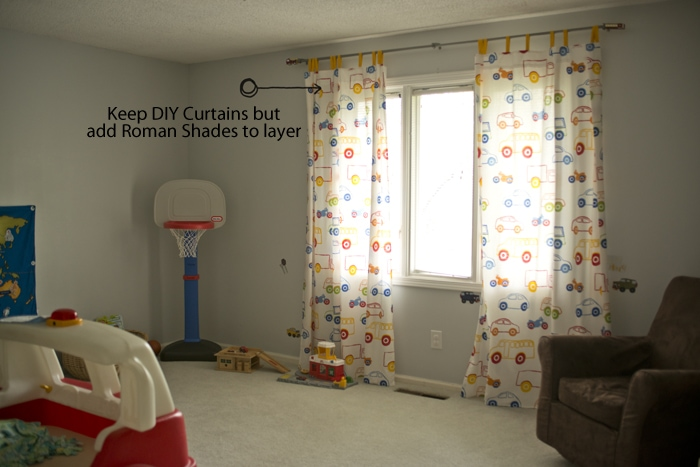 DIY curtains but need roman shades