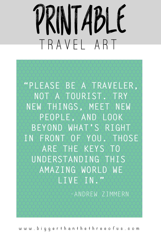 Travel Art Printable