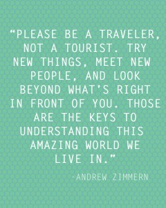 Please Be a Traveler printable