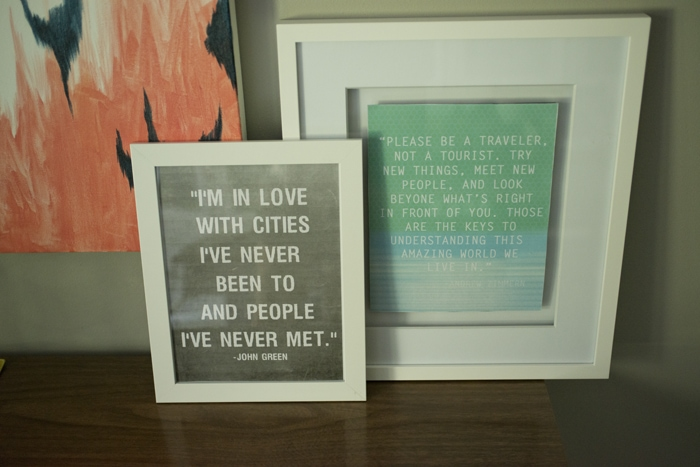 travel quotes printed