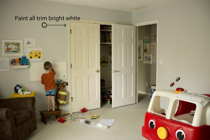 trim repainted