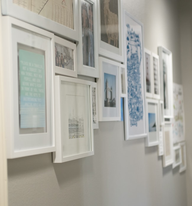 up close travel gallery wall