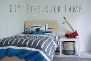 DIY Firetruck Lamp
