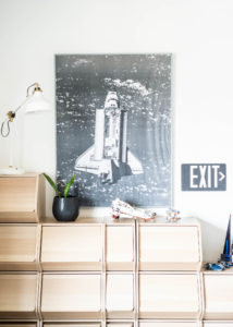 Poster of Space ship in kids room
