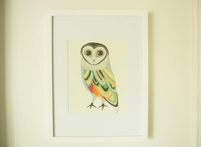 Sooty owl art