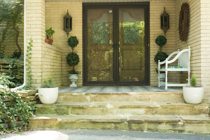 front porch after topiaries