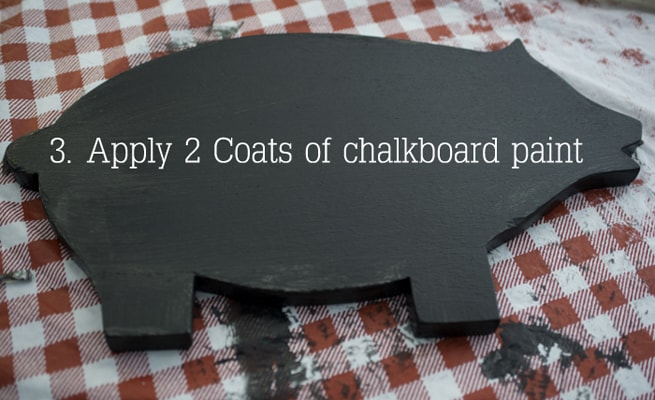 painting pig cutting board