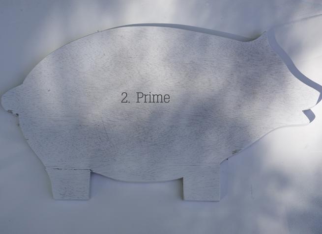 priming pig chalkboard
