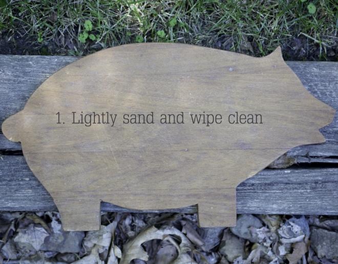 sanding pig chalkboard