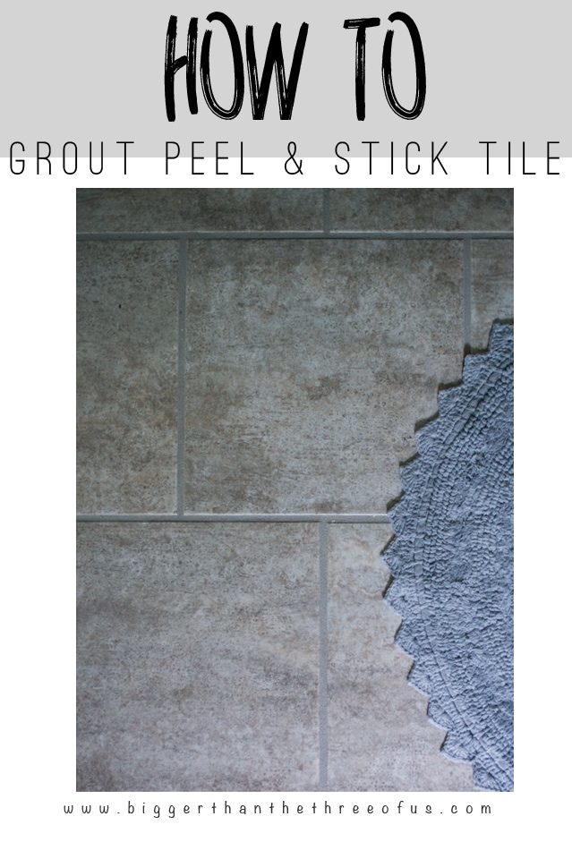 "This ""how-to"" tutorial will show you how to grout peel and stick tile. it's so easy!"